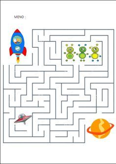 Maze game is the best online game.In maze game player have to move the ball and he had to reach the star without touching the walls. Space Theme Preschool, Space Activities, Printable Activities For Kids, Indoor Activities For Kids, Kindergarten Activities, Preschool Activities, Soft School, Space Crafts For Kids, Maze Worksheet