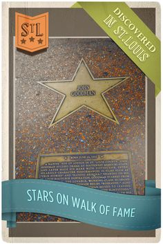 Although some of the biggest St. Louis stars play on the ball field, others have become well known for a variety different reasons, including arts, education, entertainment and more. The St. Louis Walk of Fame honors those who have made contributions to the city of St. Louis by placing a star in their name along the famous Delmar Loop in University City.