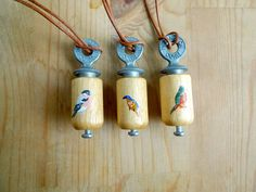 Hand Painted Bird Call Necklace from Small Adventure.