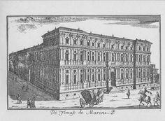 """Palazzo Marino, piazza S. Fedele, Milano. Marc'Antonio Dal Re, """"Vedute di Milano"""", incisione 59 (ca. 1745)."""