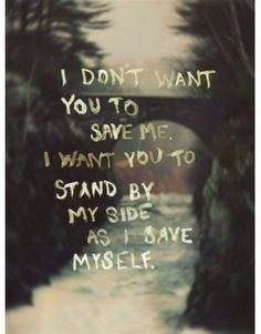 I don't want...