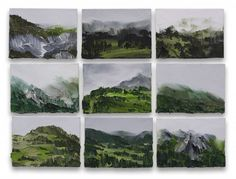 studies, 9x12cm, oil on canvas boards