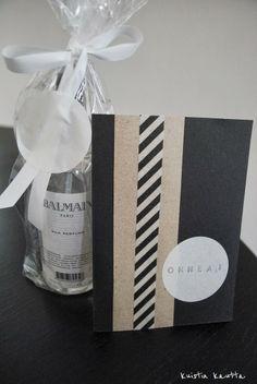 Kuistin kautta: Balmain silk perfume ja simppeli kortti ystävälle