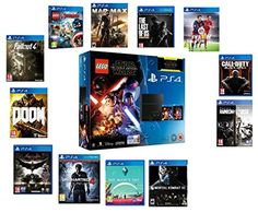 Sony PlayStation 4 500GB CUH 1216A Console with LEGO Star Wars: The Force Awakens Game + Blu-Ray Movie CHOOSE TWO GAMES CUH 1216A *NEW* 12 Month Manufacturer Warranty Jet Black - http://cybertimes.co.uk/2016/10/07/sony-playstation-4-500gb-cuh-1216a-console-with-lego-star-wars-the-force-awakens-game-blu-ray-movie-choose-two-games-cuh-1216a-new-12-month-manufacturer-warranty-jet-black/