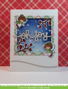 Lawn Fawn September Inspiration Week: Frosty Fairy Friends (This Haus of Cards) Haus Of Cards, Lawn Fawn Blog, Stamped Christmas Cards, Winter Fairy, Lawn Fawn Stamps, Cricut Cards, Plaid Christmas, Xmas, Winter Cards