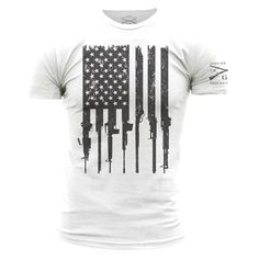 BACKORDERED ITEM ALL ORDERS CONTAINING THIS ITEM WILL NOT START SHIPPING UNTIL 5/26 Celebrate the 2nd Amendment of the United States Constitution. The right of the people to keep and bear arms shall not be infringed! Grunt Style's Men's Rifle Flag is an ultra-comfortable and soft men's white 100% cotton t-shirt.