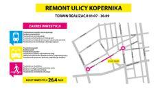 [Łódź Buduje] Schemat remontu ulicy Kopernika w Łodzi