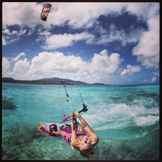 Kiteboarding kite  by adoscool.com
