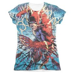 The Flash Ripping And Tearing Sublimation Juniors T-Shirt