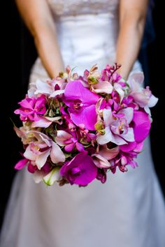 Orchid wedding bouquet absolutely gorgeous