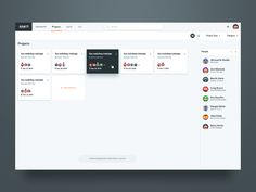Projects Screen UI Design