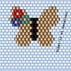 Pottery Bead loom patterns butterfly, Bead loom patterns p. Seed Bead Patterns, Peyote Patterns, Beading Patterns, Pottery Patterns, Beaded Banners, Brick Stitch Earrings, Native Beadwork, Bead Loom Bracelets, Beaded Animals