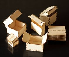 Lasercut Little Wood Boxes : 18 Steps (with Pictures) - Instructables Laser Cutter Ideas, Laser Cutter Projects, Laser Cut Box, Laser Cutting, Woodworking Jigs, Woodworking Projects, Cnc Projects, Carpentry, Gravure Laser