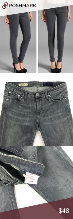 """AG Adriano Goldschmied """"The Legging"""" super skinny AG Adriano Goldschmied """"The Legging"""" super skinny jeans in a grey color. Super flattering on the body. Size 26 Ag Adriano Goldschmied Jeans Skinny"""