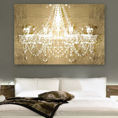 Shimmering Chandelier Wall Art