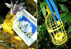 Lemon and Lavender Provence Brunch Tablescape - ideas on DIY table decorations, food, desserts and party favors for a summer celebration! Bridesmaid Luncheon, Bridal Luncheon, Down Syndrome Awareness, Bird Party, Bird Cages, Yellow Sunflower, Bridal Shower, Candles, Christmas Ornaments