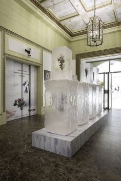 La Prairie Pop-up Product Launch | Ice Crystal Collection, Harrods by Millington Associates