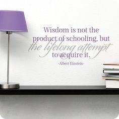 Wisdom (Four Lined Version) (wall decal from WallWritten.com).
