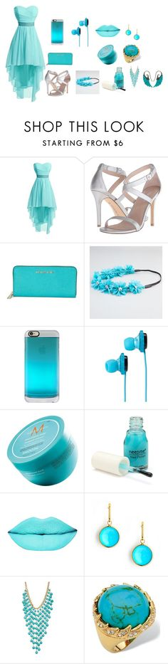 """""""aqua marine"""" by animal-lover-8723 ❤ liked on Polyvore featuring Charles by Charles David, Michael Kors, Full Tilt, Casetify, SOL Republic, Moroccanoil, Syna, Natasha Accessories, Palm Beach Jewelry and Noor Fares"""