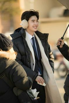 Lee Jong Suk - While you were sleeping BTS  Cr. Twitter