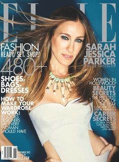 Sarah Jessica Parker  cover Elle US November 2012  cant wait for this issue