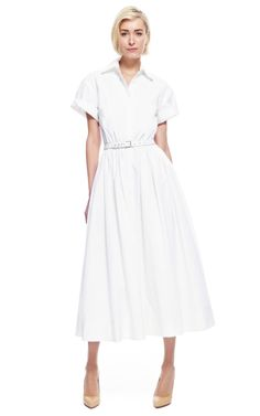 Exposed-Back Midi Shirt Dress by Rosie Assoulin - Moda Operandi