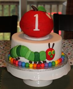 the hungry caterpillar cake smash outfit | First Hungry Caterpillar cake — Children's Birthday Cakes