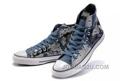 da626a49afd210 Classic Converse DC Heroes Batman Chuck Taylor All Star High Top Blue Print  Canvas Shoes