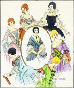 Corsages, bodice Louis XIV fashion.