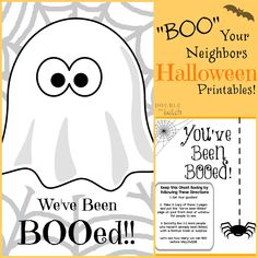 """Looking for a fun and easy Halloween Tradition to start up with your kids? Use these cute Halloween Printables and have your kids """"Boo"""" their neighbors!"""