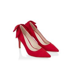 Monsoon Red Arcelia bow shoe | Debenhams