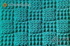Рельефный шахматный узор крючком «Лаконичный плед» | Вязание крючком от Елены Кожухарь Plaid Crochet, Knit Crochet, Crochet Square Patterns, Crochet Stitches, Stitch 2, Blanket, Knitting, Crochet Tutorials, Chess