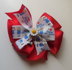 Daisy Girl Scouts Hair Bow Girls Hair Bows by HaleybugBowCreations  #daisygirlscouts #hairbows #daisyhairbows
