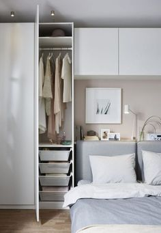 77 space saving tips kids in a small bedroom 38 - coodecors Room Design Bedroom, Bedroom Layouts, Home Bedroom, Bedroom Decor, Ikea Bedroom Storage, Bedroom Designs, Small Master Bedroom, Minimalist Bedroom, Interior Design Living Room