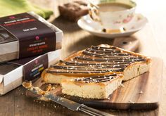 Just to get you started, here's our Mouth Watering Sea-salted Caramel Tray Bake. It's to die for! Tray Bakes, Tiramisu, Caramel, Food And Drink, Bread, Baking, Ethnic Recipes, Sticky Toffee, Candy