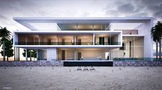 #contemporary #beachfront #oceanfront #waterfront beach #home