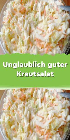 Incredibly good coleslaw - We have this salad in our snack bar. There are days when I have an appetite for something fried unhealthy - food # . Healthy Vegetarian Breakfast, Salad Recipes Healthy Lunch, Salad Recipes For Dinner, Healthy Low Carb Recipes, Healthy Crockpot Recipes, Dinner Healthy, Dessert Recipes, Cole Slaw, Quelque Chose