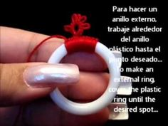 How to tat onto a plastic ring - YouTube