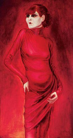 otto dix - Portrait of the dancer Anita Berber