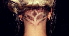 Lotus. Nape undercut. Shape. Design. Idea.