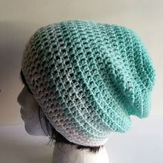 Olive + Brook: Spring Mandala Slouchy Beanie - free crochet pattern by Acquanetta Ferguson.