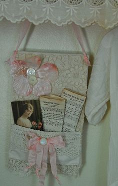 Lace wall-hanging made by me~ by Sweet Vintage Rose Cottage, via Flickr