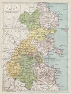 Map of County Dublin 1900