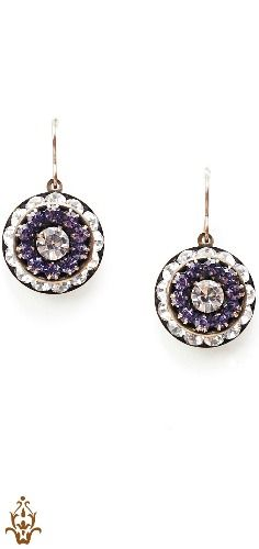 STUNNING amethyst and clear crystal earrings from @saintvintage! Get yourself a pair and help give back to cancer research. #jewelryforacause