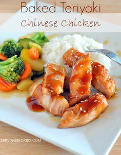 Baked Teriyaki Chinese Chicken