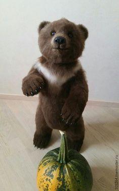 Игрушки животные, ручной работы. Ярмарка Мастеров - ручная работа. Купить Бурый медвежонок 2. Handmade. Мишка, мишка из шерсти