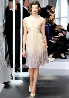 Bette Frank in Christian Dior Spring 2012 #couture #runway #dior