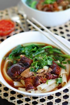 To Food with Love: Thai Duck Noodle Soup  I have to make this some day!