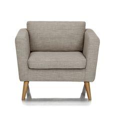 Fauteuil style rétro Ecru - Pure - Les fauteuils - Fauteuils et poufs - Canapés et fauteuils - Décoration d'intérieur - Alinéa