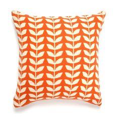 The bold embellished Leaf Design Cushion is shopcandelabra.com